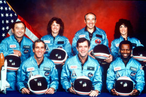 Crew of the Space Shuttle Challenger that blew up on takeoff in January 1986, the reason why Alex Ayzin commissioned the Concerto for Astronauts by Russian classical pianist and composer Emilian Sichkin