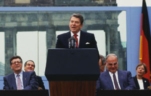 "In June 1987 President Ronald Reagan gave a speech at the Berlin Wall and famously said, ""Mr. Gorbachev, tear down this Wall."" Four years the later the Soviet Union was history."