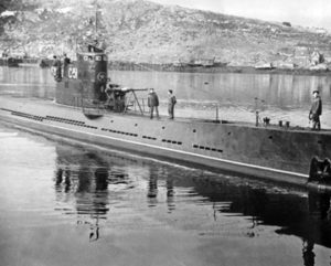 Photo of World War II Soviet Submarine.