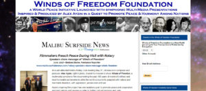 Hot link image snapshot of Barbara Burke article page from Mailbu Surfside News on Winds of Freedom Foundation website.