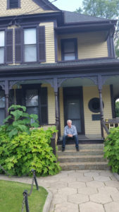 The house where Martin Luther King, Jr. grew was burned down and then rebuilt as a monument to his work and legacy. Alex Ayzin, creator of the Winds of Freedom Symphonies & Multimedia Presentations, is seen here looking plaintive as he contemplates the legacy of the great man.