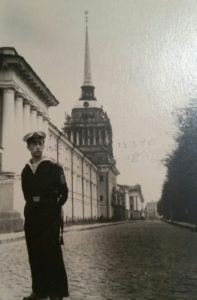 Ilya Ayzin, Alex Ayzin's Father, shown as Cadet at Leningrad-St. Petersburg Naval Academy in 1947