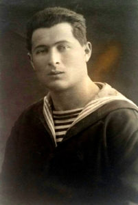 Leo Ayzin, Grandfather of Alex Ayzin, serving in the Soviet Navy in the 1930s.