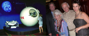 Combination photos of the Yuri Gagarin Capsule Exhibit at Star City & Buzz Aldrin's 2nd Man on the Moon 35th Anniversary Moon Landing Party.